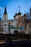 Moskwa, Rosja, 1 Kwietnia 2017 rok, Stary Rosyjski kościół na Kitai Gorod okręgu Zdjęcie Stock