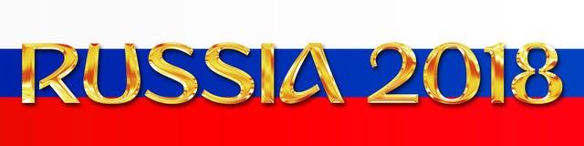MOSKWA, ROSJA, Lipiec 2018 - Rosja 2018 i rosjanin flaga Obrazy Royalty Free