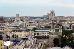 Moskwa Rosja, Lipiec, - 25 2017 Miasto krajobraz centrum i Patriarchalny most Fotografia Royalty Free