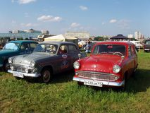 MOSKWA ROSJA, Lipiec, - 15, 2008: ` Moskvich ` - 407, sowiecki samochodowy powystawowy ` Autoexotic 2008 ` Zdjęcia Stock