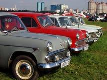 MOSKWA ROSJA, Lipiec, - 15, 2008: ` Moskvich ` - 407, sowiecki samochodowy powystawowy ` Autoexotic 2008 ` Obrazy Royalty Free