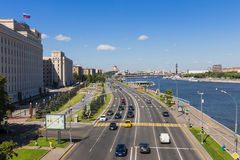 MOSKWA ROSJA, Lipiec, - 4: Panorama Moskwa, widok na Frunze zdjęcie royalty free