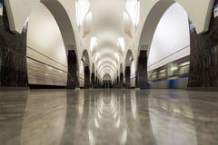 Moskwa Rosja, Lipiec, - 09 2015 Wnętrze stacja metru Volokolamskaya Obraz Royalty Free