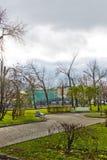 Bolotnaya kwadrat w centrum Moskwa na Listopadzie 07, 2012. Zdjęcia Stock