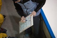 Moskwa Rosja, Listopad, -, 26, 2016, hokeja dopasowanie między amatorskimi drużynami zdjęcia royalty free