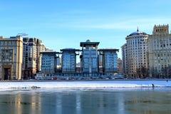 Moskwa Rosja, Luty, - 14, 2019: Doskonalić kombinacja natura i architektura w Moskwa zdjęcie stock