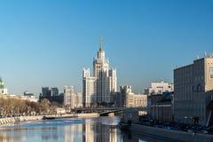 MOSKWA ROSJA, Luty, - 18 2015 Era budynek na Kotelnicheskaya bulwarze Obraz Royalty Free