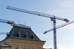 Moskwa Rosja, Luty, - 01, 2018: Odbudowa dziejowy budynek na placu czerwonym w Moskwa Obraz Stock