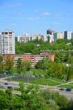 Moskwa Rosja, Maj, - 13 2016 Bawi się boisko do koszykówki w Zelenograd Zdjęcie Stock