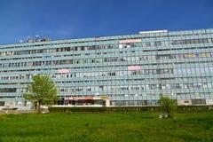 Moskwa Rosja, Maj, - 09 2016 Budynki biurowi w południowej strefie przemysłowa Zelenograd Obraz Royalty Free