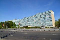 Moskwa Rosja, Maj, - 09 2016 Budynki biurowi w południowej strefie przemysłowa Zelenograd Zdjęcia Royalty Free