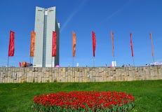Moskwa Rosja, Maj, - 09 2016 Główny Plac podczas zwycięstwo dnia w Zelenograd Obrazy Royalty Free
