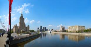 MOSKWA ROSJA, MAJ, - 01: Moskwa panorama - Stalin ` s sławny skysc Obrazy Royalty Free