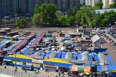 Moskwa Rosja, Maj, - 13 2016 Odgórny widok miasto rynek w Zelenograd Obrazy Royalty Free