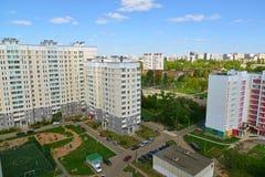 Moskwa Rosja, Maj, - 13 2016 Odgórny widok okręg 20 w Zelenograd lecie Obrazy Royalty Free