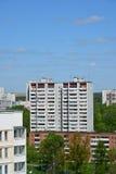 Moskwa Rosja, Maj, - 13 2016 Odgórny widok okręg 20 w Zelenograd lecie Obraz Royalty Free