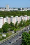 Moskwa Rosja, Maj, - 13 2016 Odgórny widok Solnechnaya aleja w Zelenograd Zdjęcie Stock