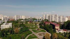 Moskwa Rosja, Maj, - 26 2018 Ogólny widok Zelenograd z chodzącym bulwarem zbiory