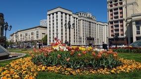Moskwa Rosja, Maj, - 12 2018 Stan duma od kierunku Manezhnaya Obciosuje zbiory wideo