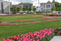 MOSKWA ROSJA, Maj, - 27, 2017: Tulipany na VDNKh Zdjęcie Royalty Free