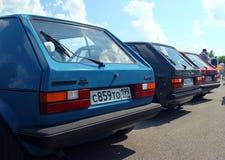 MOSKWA ROSJA, MAJ, - 28, 2016: Volkswagen Golf GT mk1 przy VW samochodu festiwalem Zdjęcie Stock
