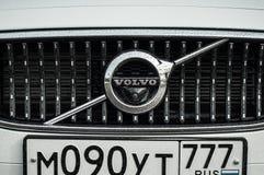 MOSKWA ROSJA, MAJ, - 3, 2017 VOLVO V90 PRZECINAJĄCY kraj, strona widok Test nowy Volvo V90 Przecinający kraj Ten samochód jest AW Obrazy Stock