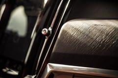 MOSKWA ROSJA, MAJ, - 3, 2017 VOLVO V90 PRZECINAJĄCY kraj, wewnętrzny widok Test nowy Volvo V90 Przecinający kraj Ten samochód jes Obrazy Stock