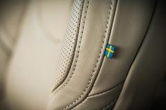 MOSKWA ROSJA, MAJ, - 3, 2017 VOLVO V90 PRZECINAJĄCY kraj, wewnętrzny widok Test nowy Volvo V90 Przecinający kraj Ten samochód jes Obrazy Royalty Free
