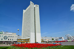 Moskwa Rosja, Maj, - 09 2016 widok budynek biurowy w Zelenograd Fotografia Royalty Free