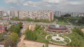 Moskwa Rosja, Maj, - 7 2019 Widok obrzeża Zelenograd i 16 microdistrict zdjęcie wideo