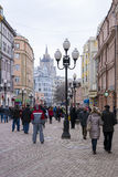 MOSKWA ROSJA, MARZEC, - 9: Arbat ulica - jeden ruchliwie i Zdjęcia Royalty Free