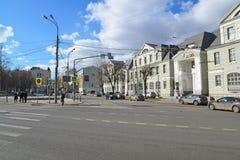 Moskwa Rosja, Marzec, - 14, 2016 Bank VTB 24 na ulicznym Nowym Basmannaya Obrazy Stock