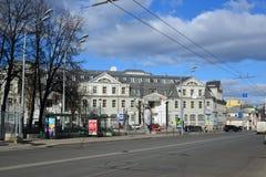 Moskwa Rosja, Marzec, - 14, 2016 Bank VTB 24 na ulicznym Nowym Basmannaya Zdjęcie Royalty Free