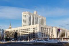 Moskwa Rosja, Marzec, - 25, 2018: Budynek federacja rosyjska rzędu dom w Moskwa Zdjęcia Royalty Free
