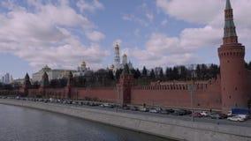 Moskwa, Rosja - 23 Marzec 2017: Moskwa Kremlin jest warownym kompleksem w sercu Moskwa zbiory