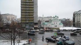 Moskwa Rosja, Marzec, - 5 2015 Nowa Arbat ulica - jeden środkowe ulicy miasto zbiory