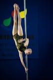 MOSKWA ROSJA, MARZEC, - 22: Słupa sporta elita 2014 na Marzec 22, 2014 w Moskwa, Rosja Zdjęcia Stock