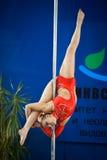 MOSKWA ROSJA, MARZEC, - 22: Słupa sporta elita 2014 na Marzec 22, 2014 w Moskwa, Rosja Zdjęcia Royalty Free