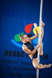 MOSKWA ROSJA, MARZEC, - 22: Słupa sporta elita 2014 na Marzec 22, 2014 w Moskwa, Rosja Obrazy Royalty Free
