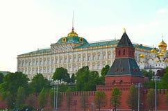 Moskwa, Rosja, miasto, 2018, megalopolis, Putin plac czerwony, zdjęcie stock