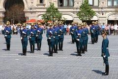 Moskwa, Rosja, może 26, 2007 Rosyjska scena: rozwodowi końscy strażnicy w Moskwa Kremlin na placu czerwonym Zdjęcia Stock