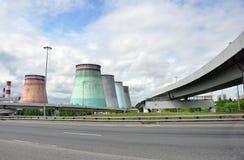 MOSKWA, ROSJA - 31 06 2015 Mosenergo Energia Firma który kontroluje Gazprom, CHP 26 Zdjęcia Stock