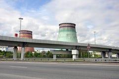 MOSKWA, ROSJA - 31 06 2015 Mosenergo Energia Firma który kontroluje Gazprom, CHP 26 Obrazy Stock