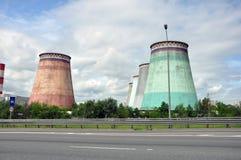 MOSKWA, ROSJA - 31 06 2015 Mosenergo Energia Firma który kontroluje Gazprom, CHP 26 Zdjęcia Royalty Free