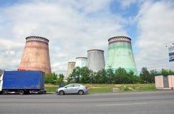 MOSKWA, ROSJA - 31 06 2015 Mosenergo Energia Firma który kontroluje Gazprom, CHP 26 Fotografia Stock