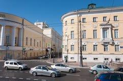 MOSKWA, ROSJA - 21 09 2015 Ogólny widok Mokhovaya ulica w jesieni Fotografia Royalty Free