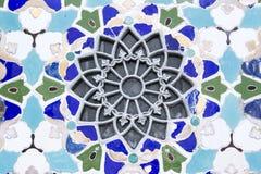MOSKWA, ROSJA - orientała mozaika wzór na ścianie pawilon w VDNKh Obraz Stock