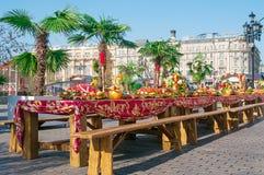 MOSKWA ROSJA, PAŹDZIERNIK, - 06, 2015: Moskwa jesieni festiwal przy mężczyzna Zdjęcia Royalty Free
