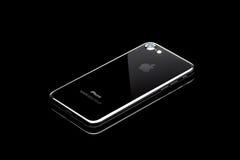MOSKWA ROSJA, PAŹDZIERNIK, - 24, 2016: Nowy czarny iPhone 7 jest mądrze Fotografia Stock