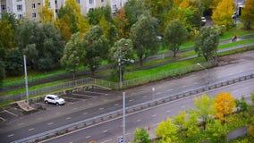 Moskwa Rosja, Październik, - 9 2017 Pejzażu miejskiego Zelenograd sypialny teren w jesieni zdjęcie wideo